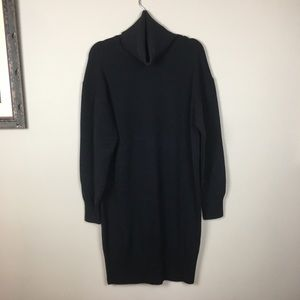 Wilfred Knit Black Sweater Dress